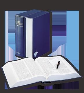 klassisches Wörterbuch im Schuber