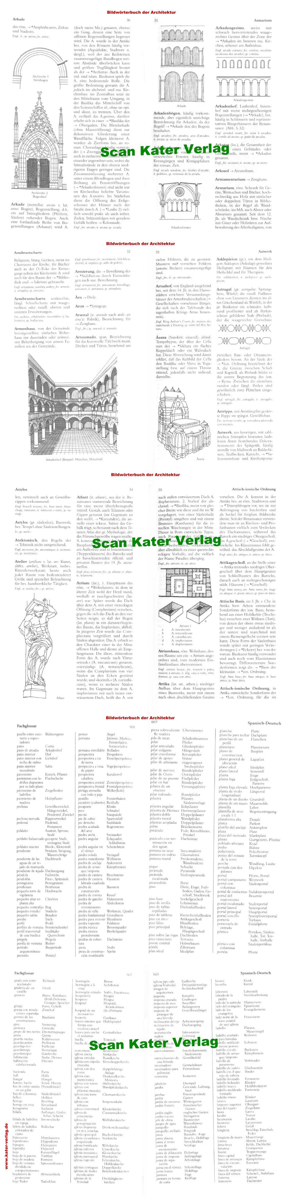 Bildwörterbuch der Architektur DE-EN-FR-IT-ES