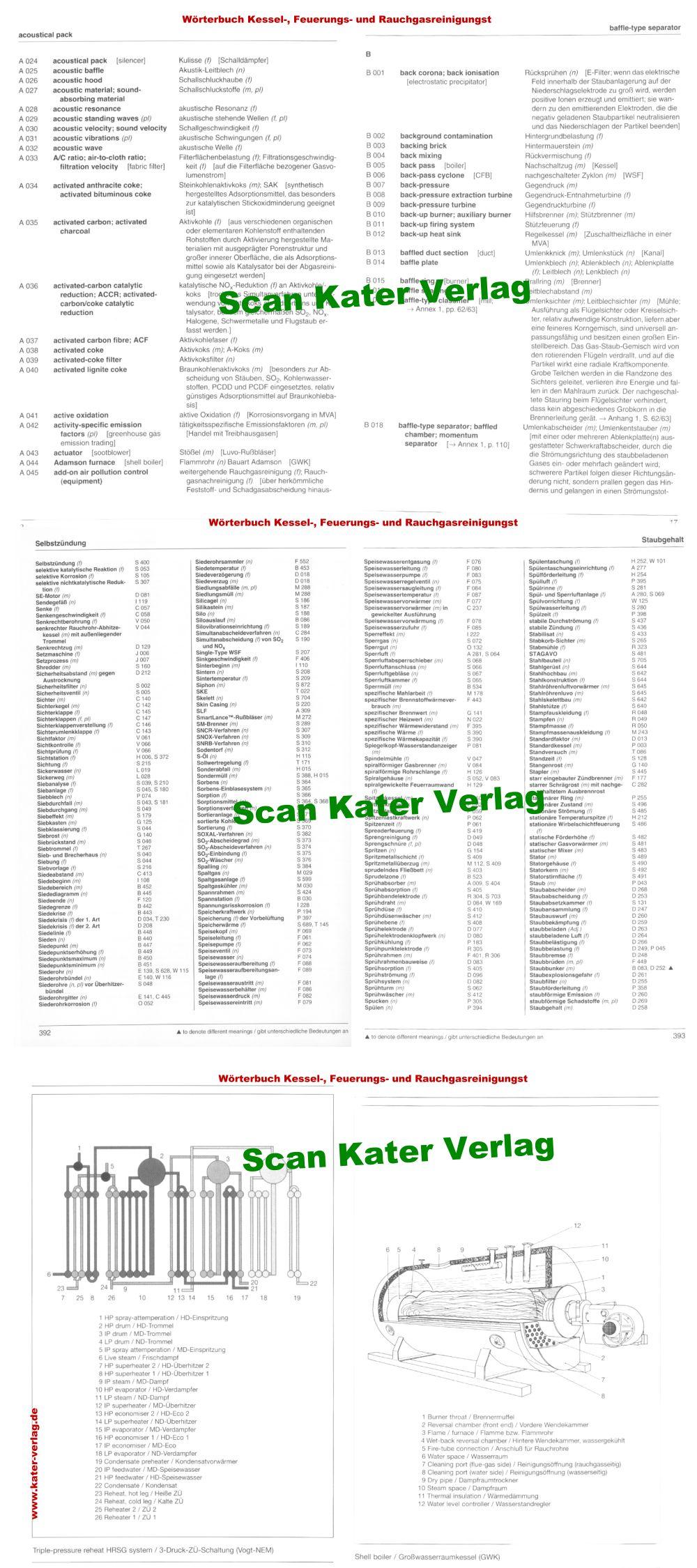 Wörterbuch der Kessel-, Feuerungs- und Rauchgasreinigungstechnik DE-EN, EN-DE