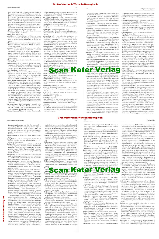 Hamblock / Wessels  Großwörterbuch Wirtschaftsenglisch DE-EN
