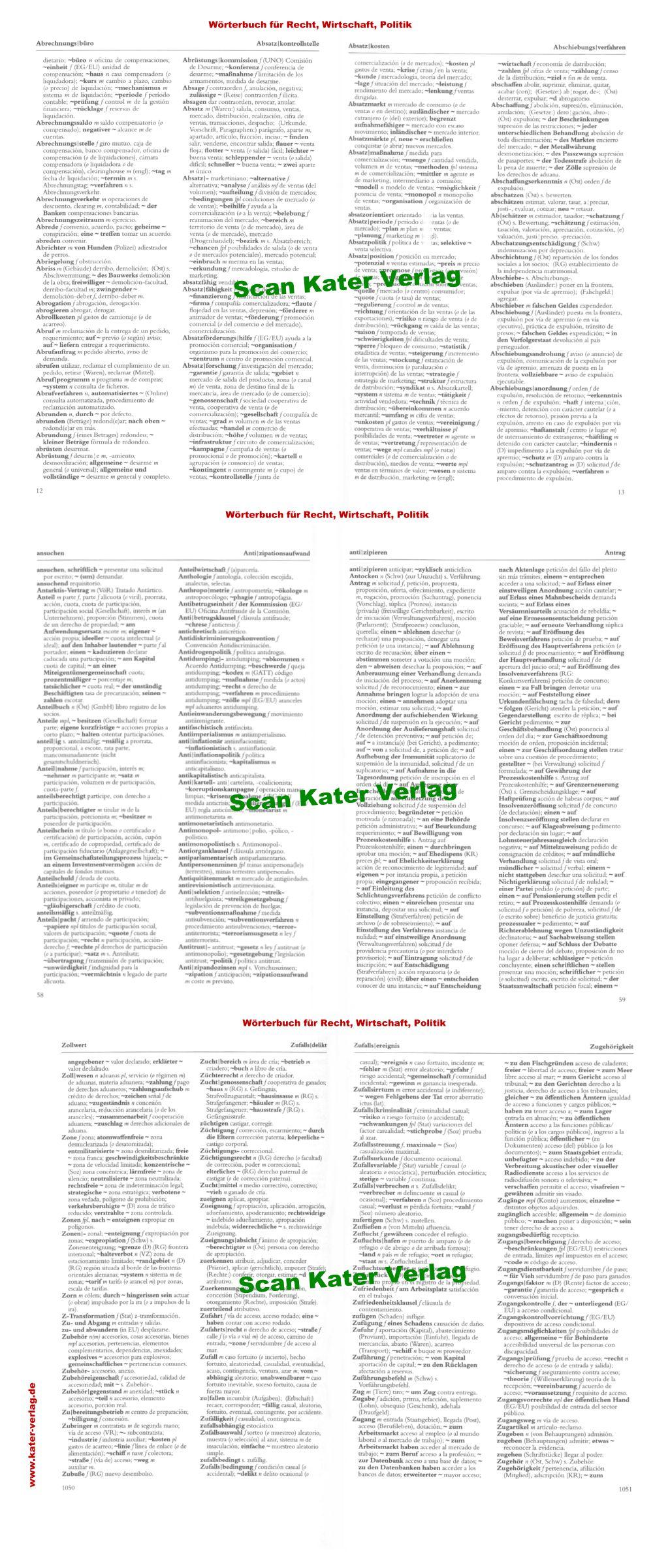 Becher: Wörterbuch Recht, Wirtschaft und Politik II DE-ES