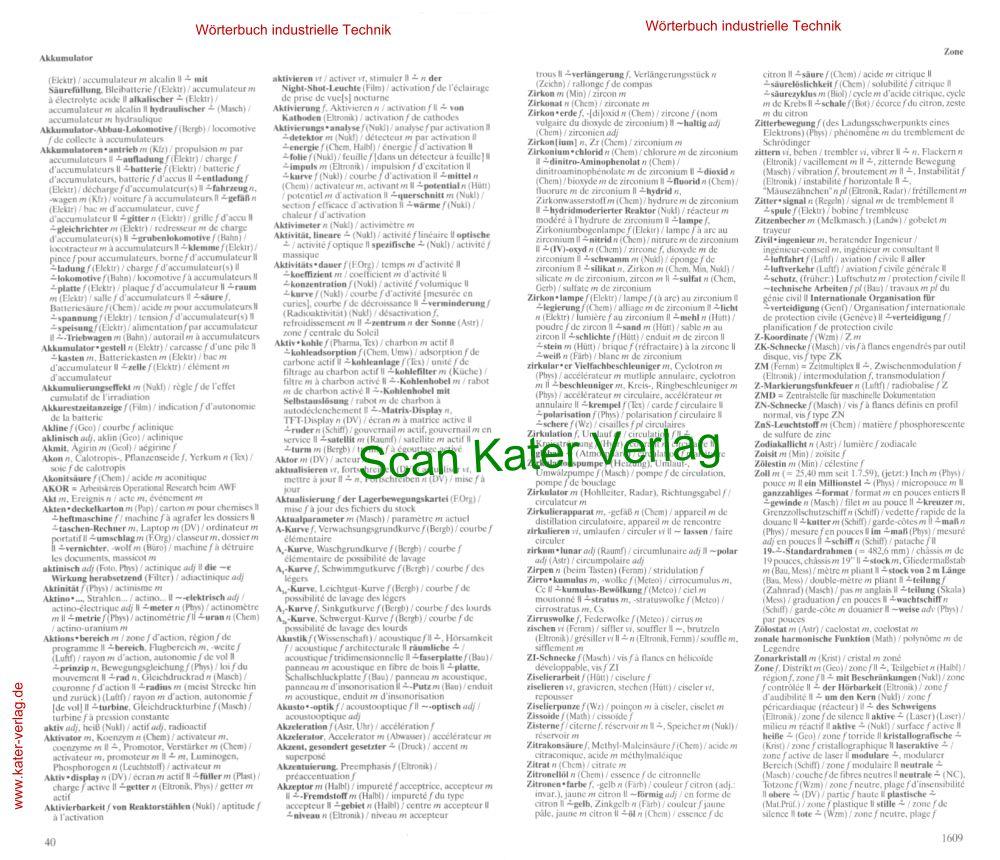 Ernst: Wörterbuch der industriellen Technik III Deutsch-Französisch 6. Auflage DE-FR