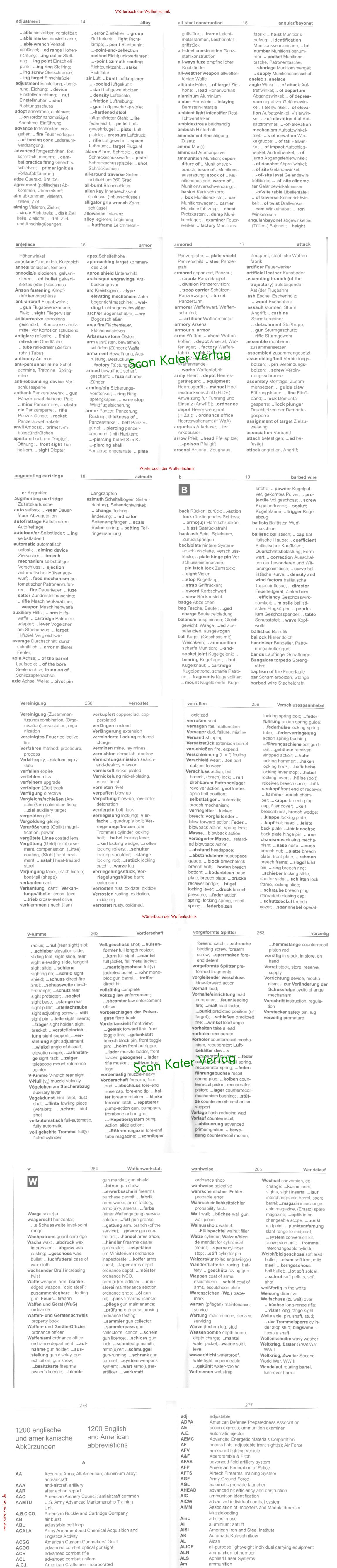 Wörterbuch der Waffentechnik EN-DE, DE-EN