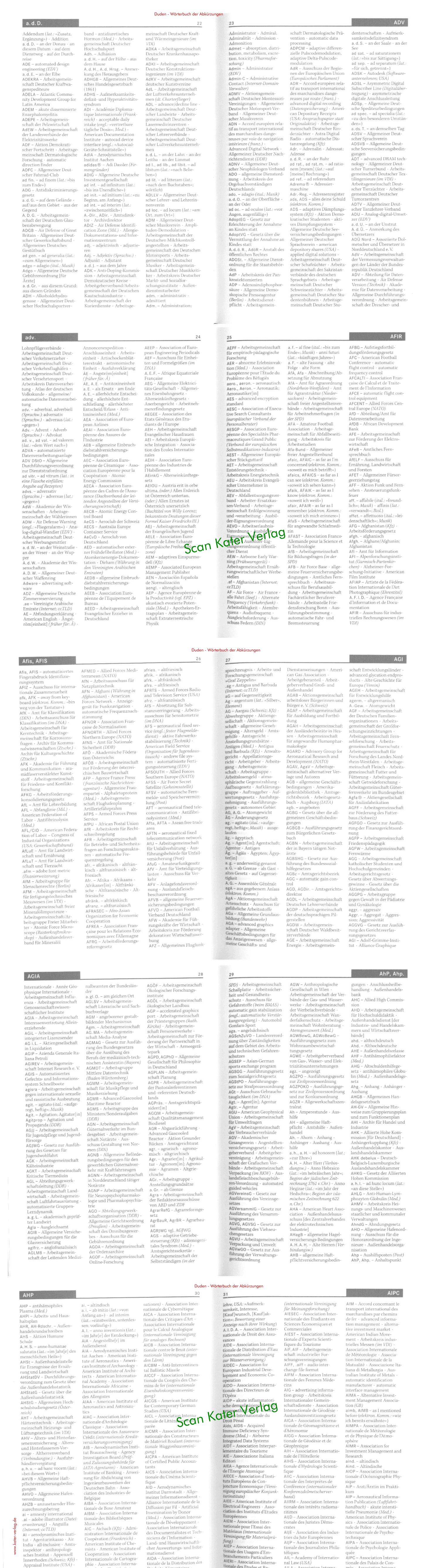 Das Wörterbuch der Abkürzungen DE