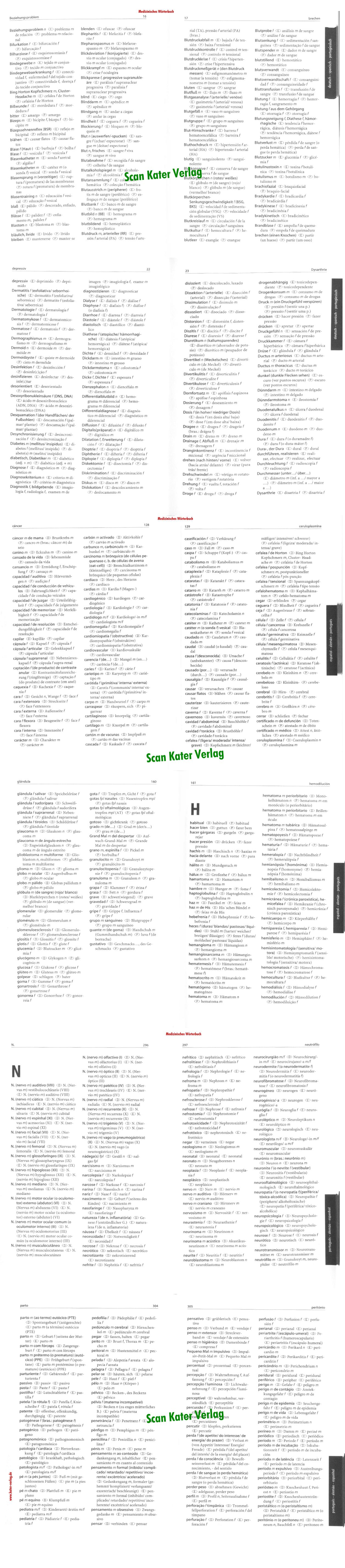 Medizinisches Wörterbuch DE-ES-PT