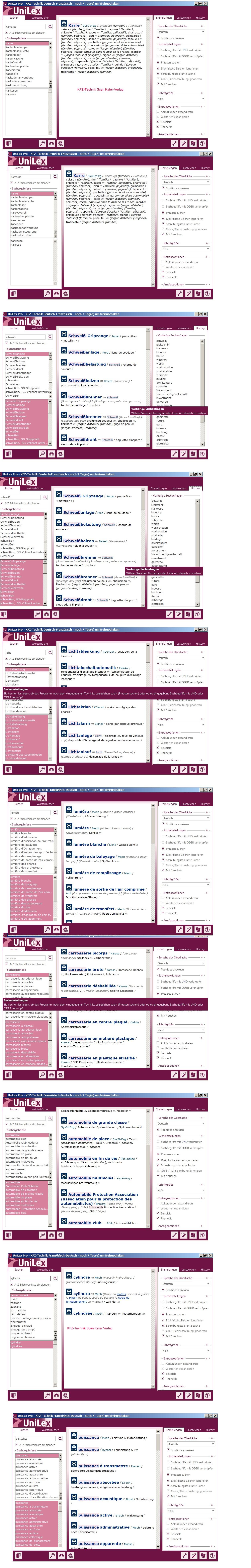 Dalla-Zuanna: Fachwörterbuch Kraftfahrzeugtechnik Französisch DE-FR, FR-DE DOWNLOAD