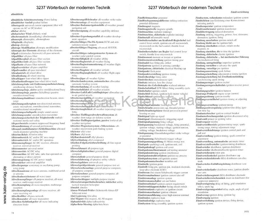 Wörterbuch der modernen Technik Oppermann 2 Bände DE-EN
