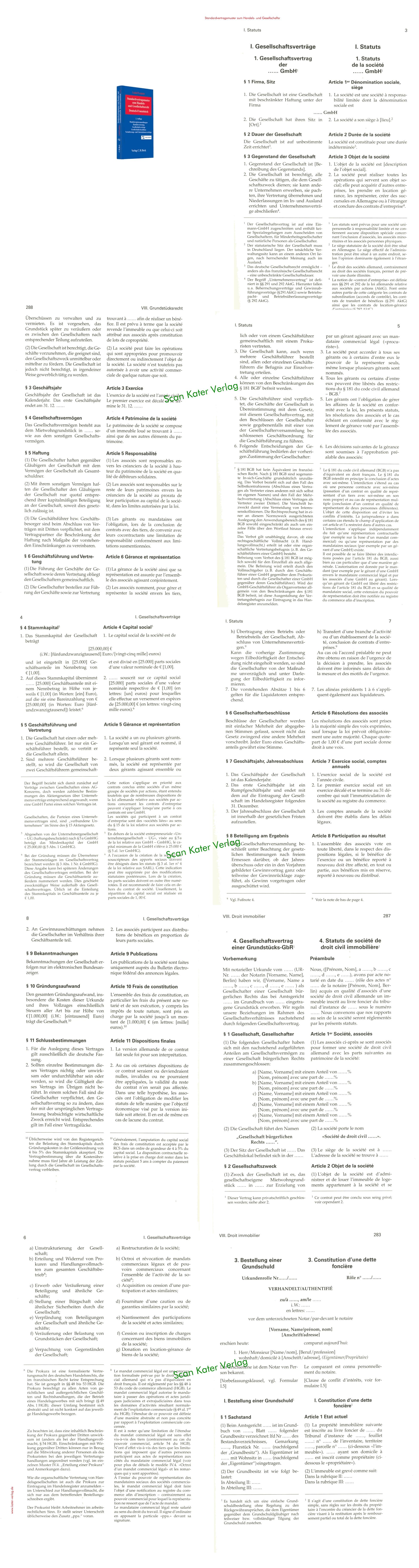 Standardvertragsmuster zum Handels- und Gesellschaftsrecht Deutsch -Französisch (Buch und CD-ROM) DE-FR