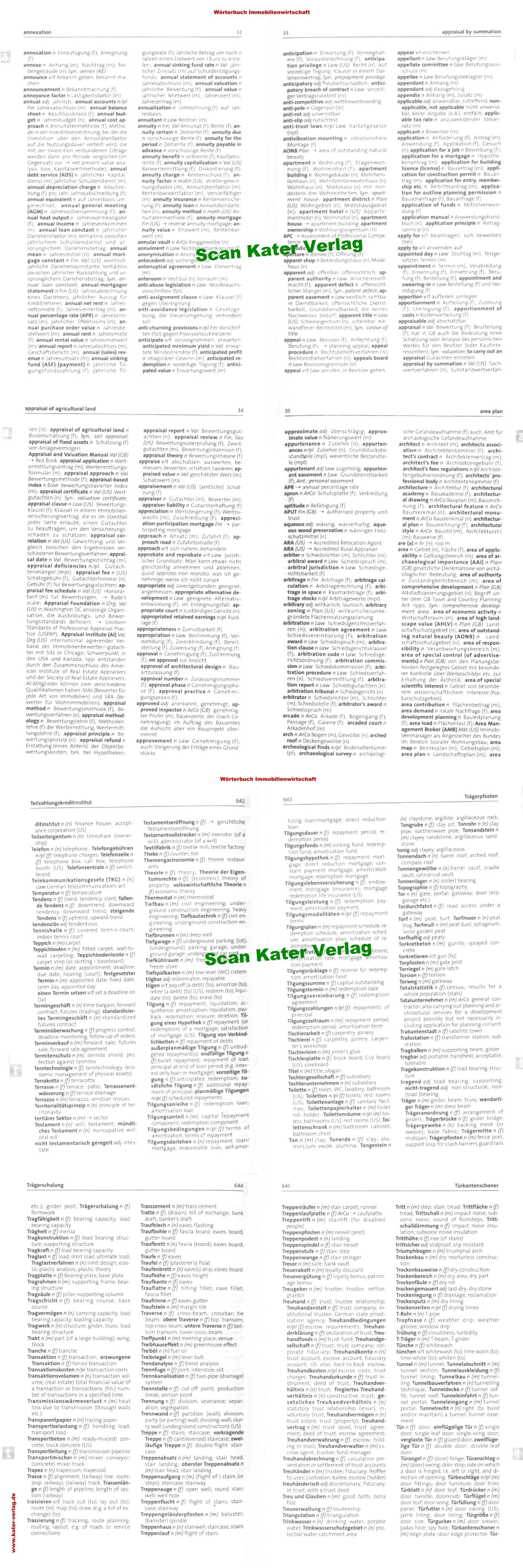 Wörterbuch Immobilienwirtschaft DE-EN, EN-DE