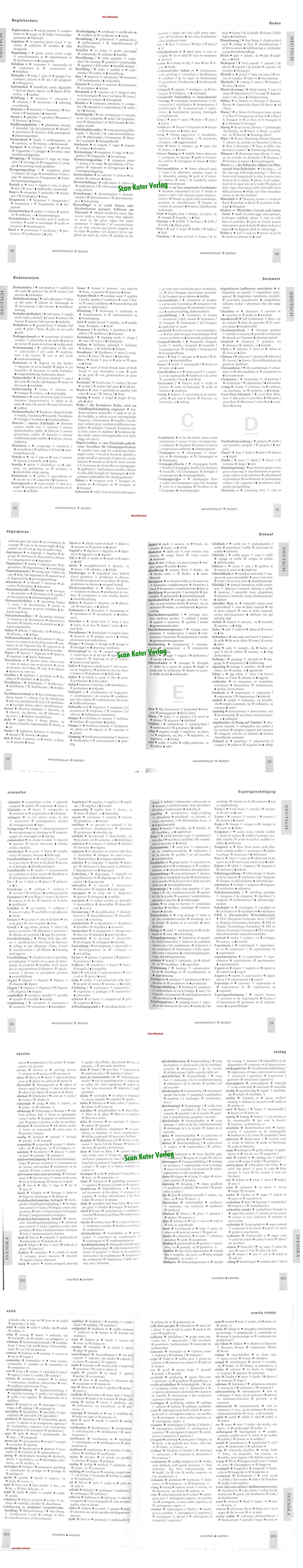 Weinwörterbuch DE-EN-ES-FR-IT-SE