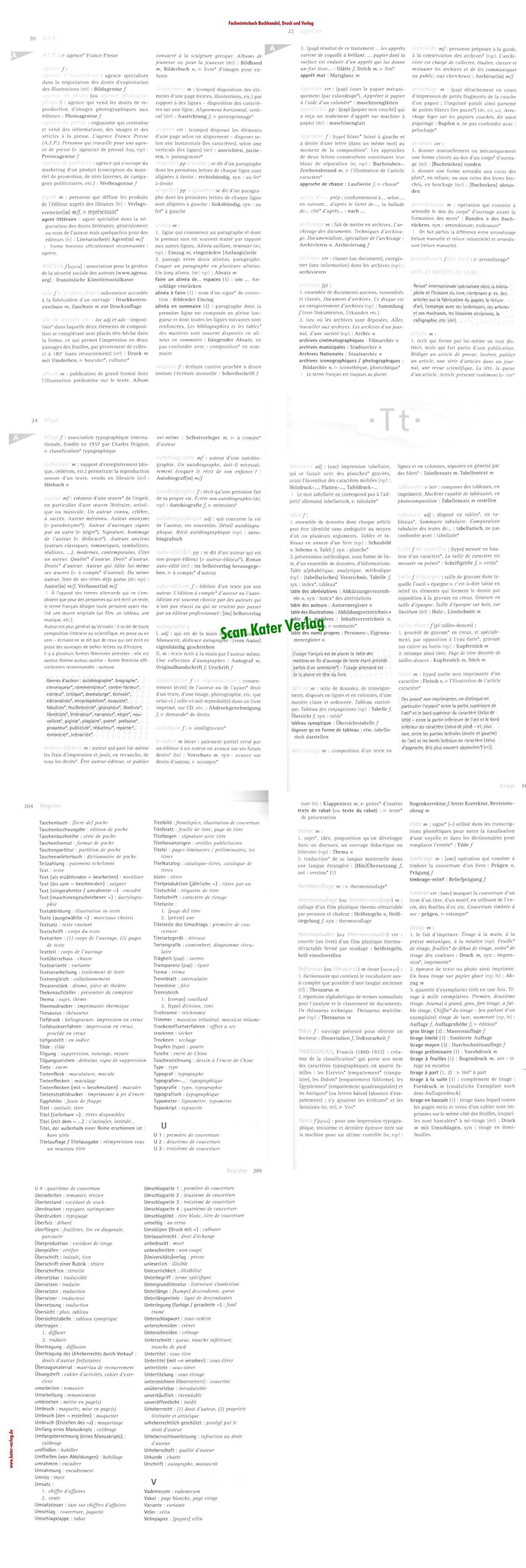 Fachwörterbuch Buchhandel, Druck und Verlag FR-DE