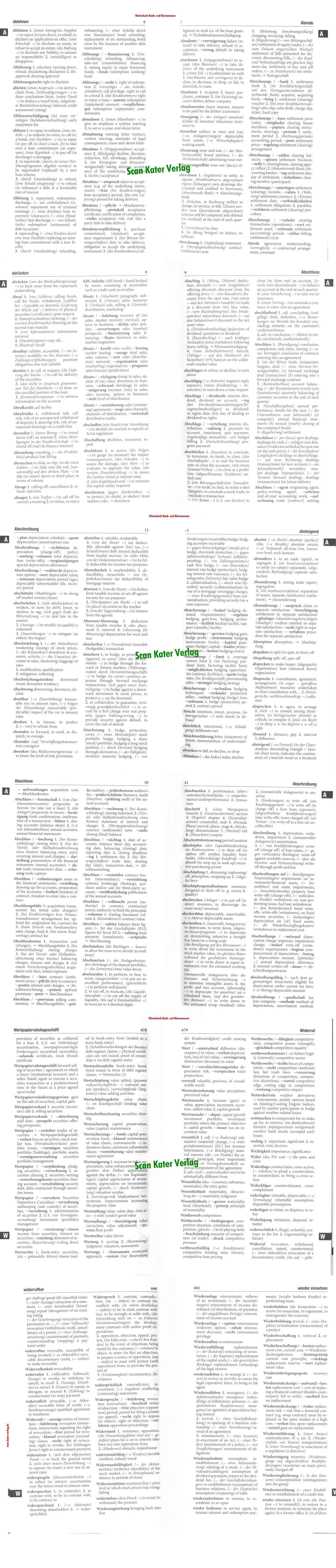 Zahn Wörterbuch für das Bank- und Börsenwesen DE-EN