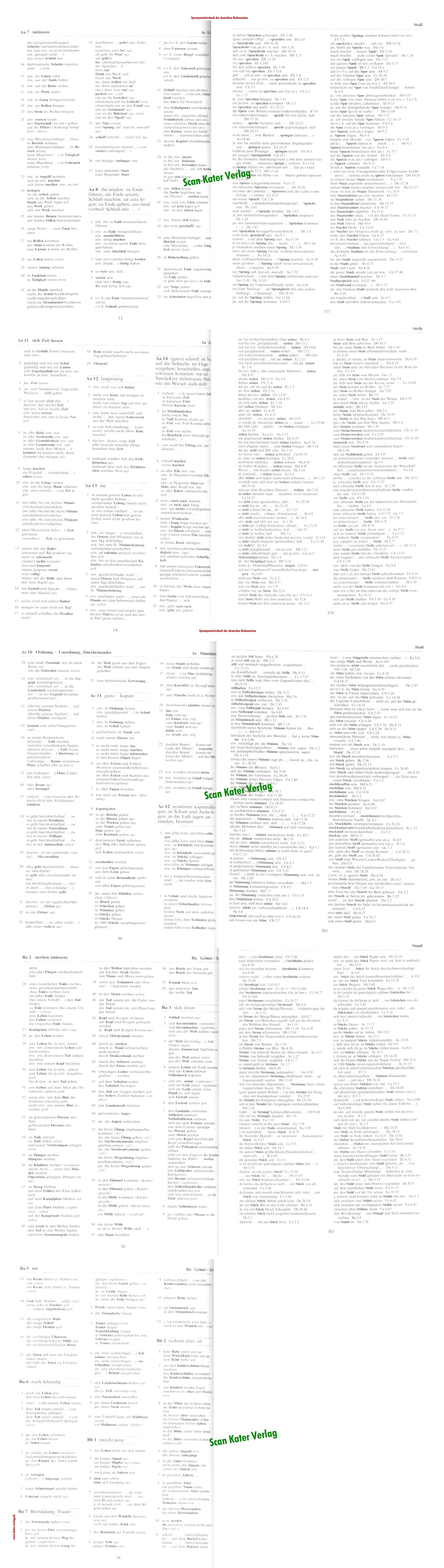 Synonymwörterbuch der deutschen Redensarten DE-DE