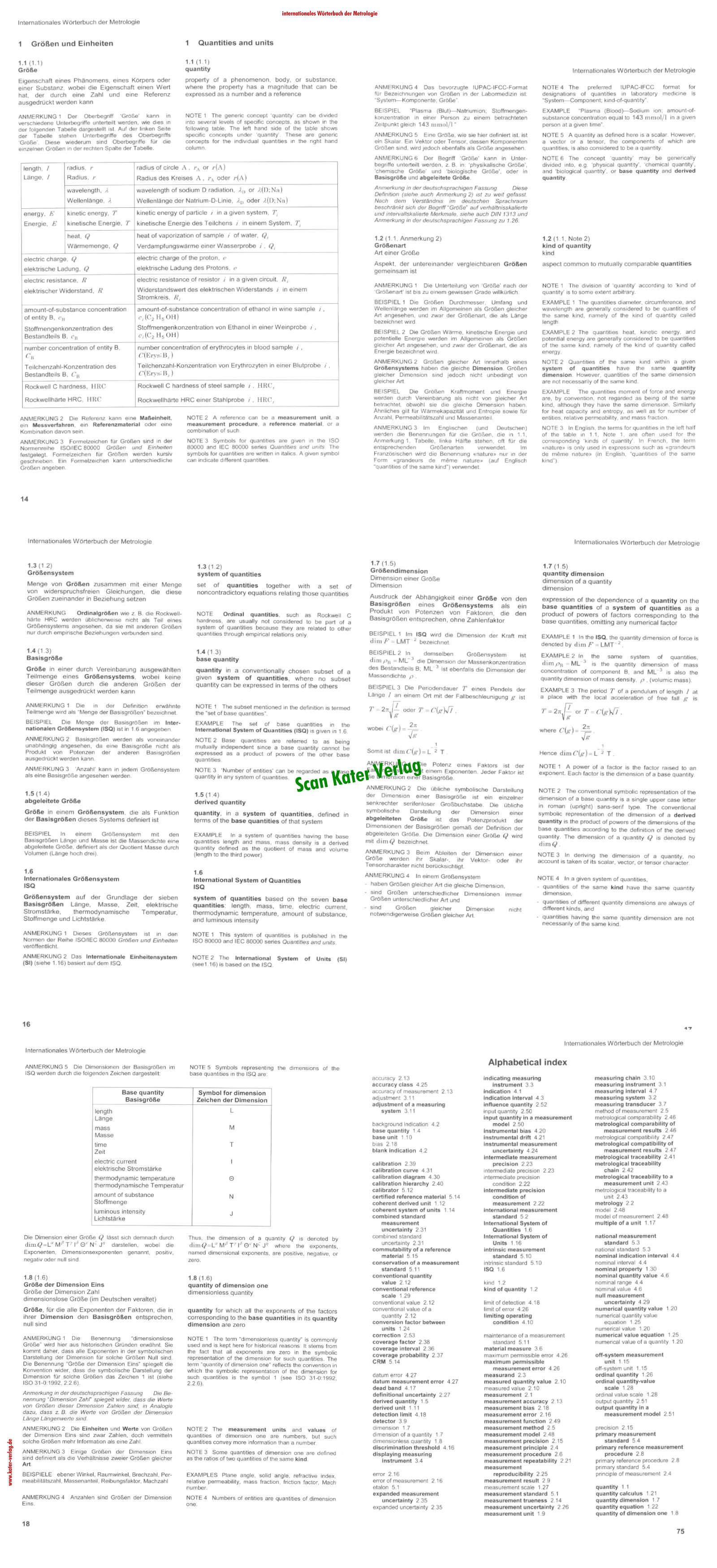 Internationales Wörterbuch der Metrologie  DE-EN