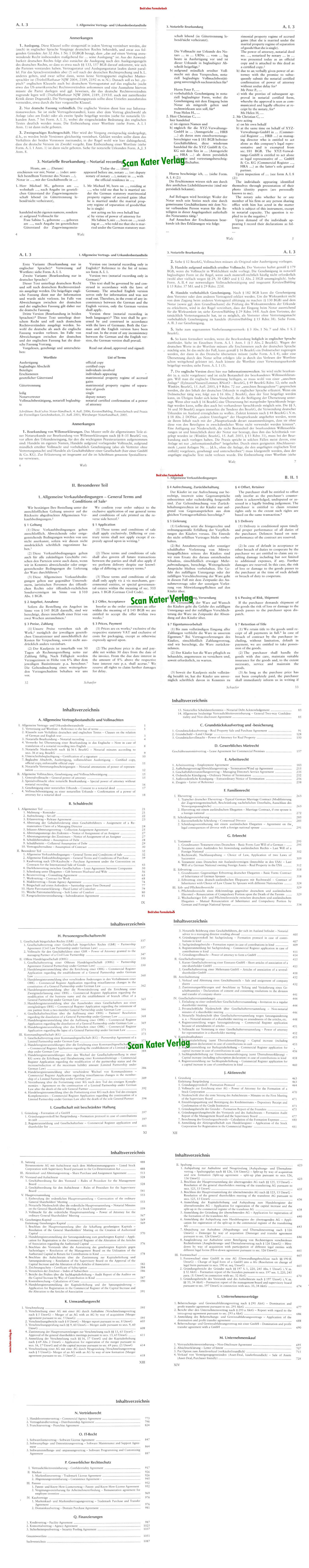 Beck'sches Formularbuch Zivil-, Wirtschafts- und Unternehmensrecht (Buch + CD-ROM) Deutsch-Englisch DE-EN