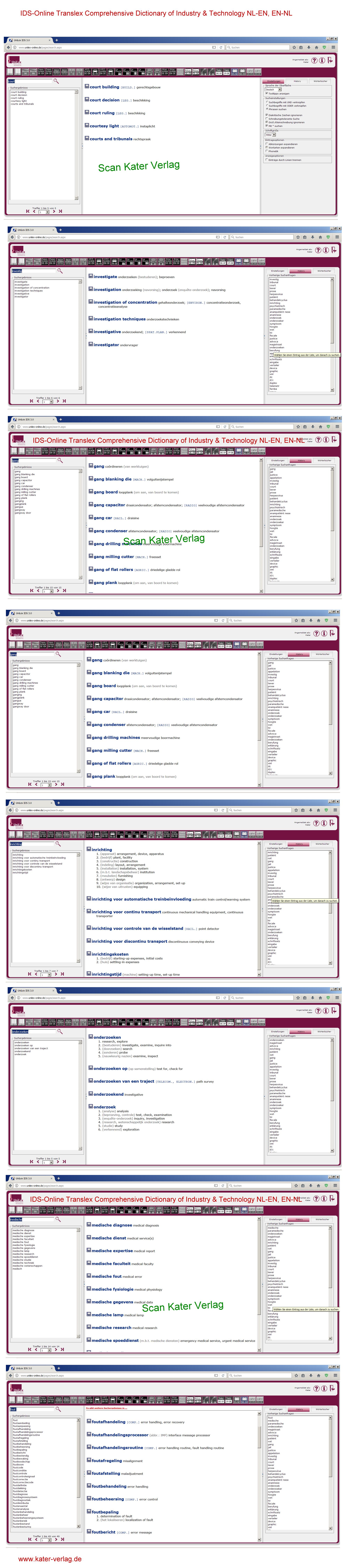 Translex Comprehensive Dictionary of Industry & Technology NL-EN, EN-NL ONLINE