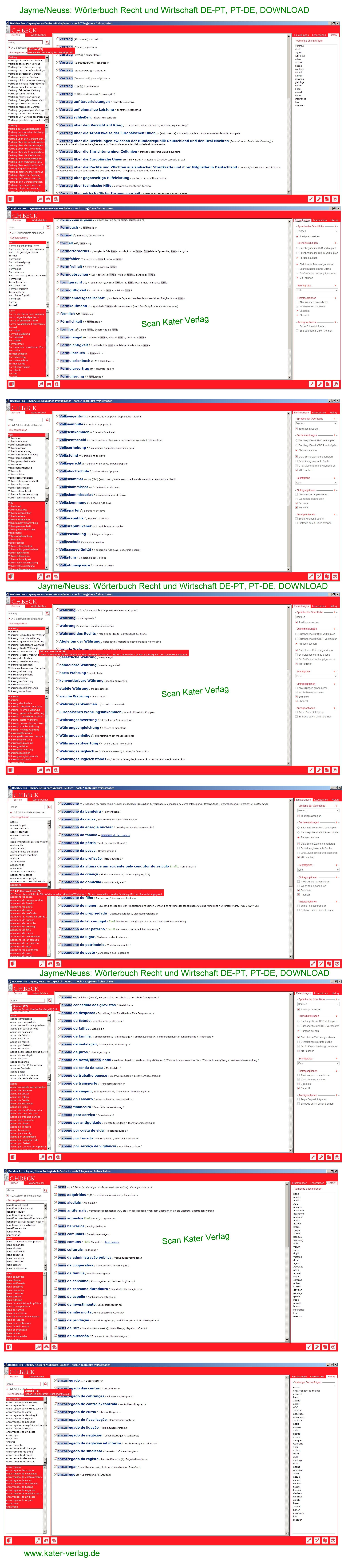 Jayme/Neuss: Wörterbuch Recht und Wirtschaft DE-PT, PT-DE, DOWNLOAD