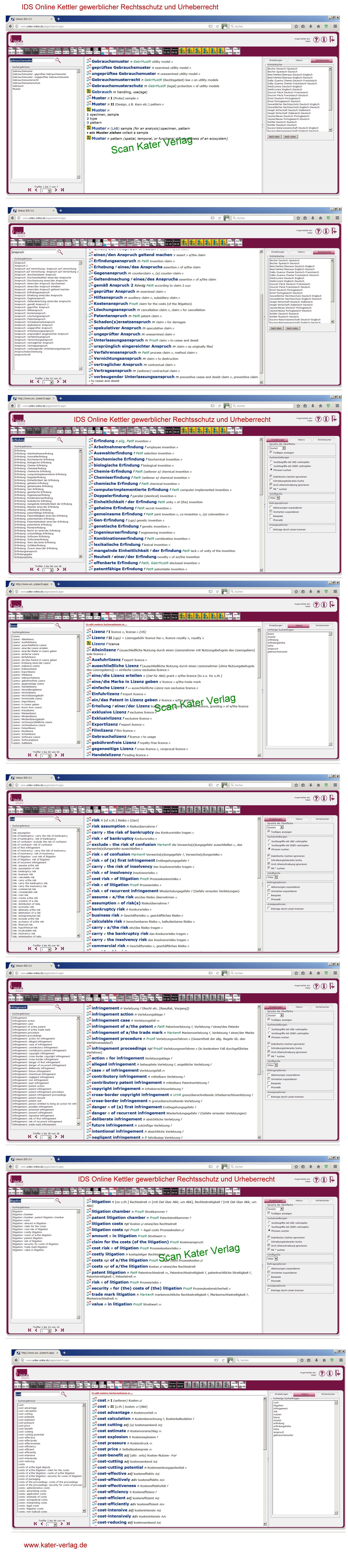 Kettler: Wörterbuch Gewerblicher Rechtsschutz und Urheberrecht DE-EN, EN-DE ONLINE