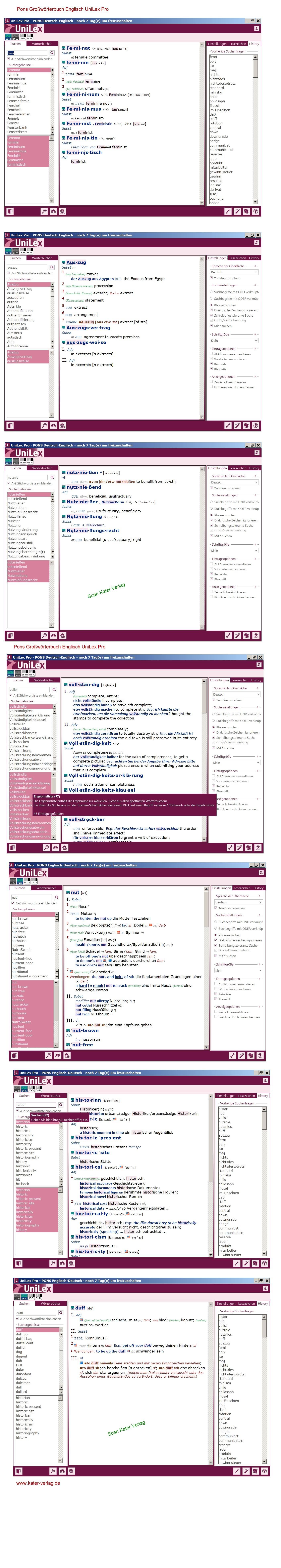 PONS Großwörterbuch Englisch DE-EN, EN-DE UniLex Pro Update DOWNLOAD
