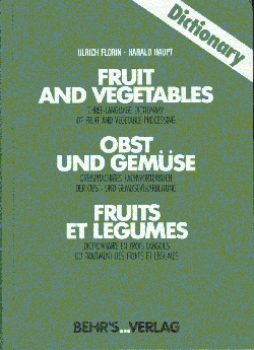 Dictionary Fruit and Vegetables - Obst und Gemüse EN-DE-FR