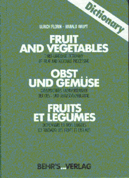 Dictionary Fruit and Vegetables - German-English-French